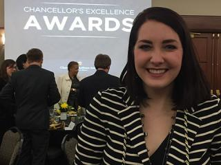 Congratulations to Mizzou Biology major Erin Hediger, who received one of MU's Unsung Heroes Award.